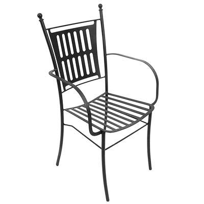 Schwarzer Stuhl aus verzinktem Eisen in italienischem Design Eva