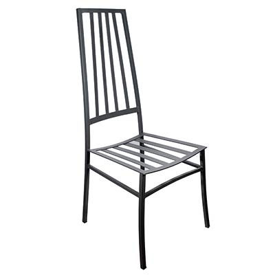 Черный стул из оцинкованного железа в итальянском дизайне Michela