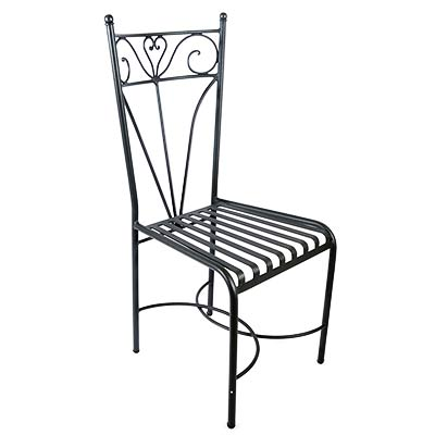 Черный стул из оцинкованного железа в итальянском дизайне Silvana