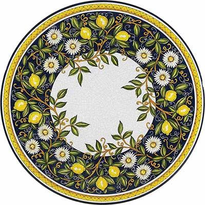 Piano del tavolo in pietra lavica italiano in design Giardino
