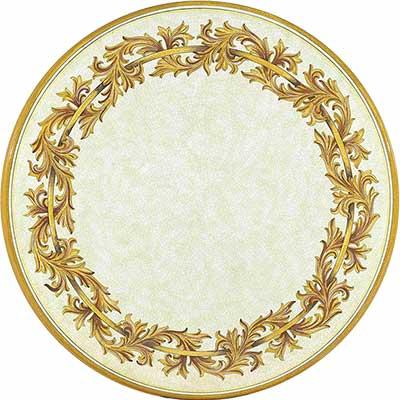 Piano del tavolo in pietra lavica italiano in design Liberty