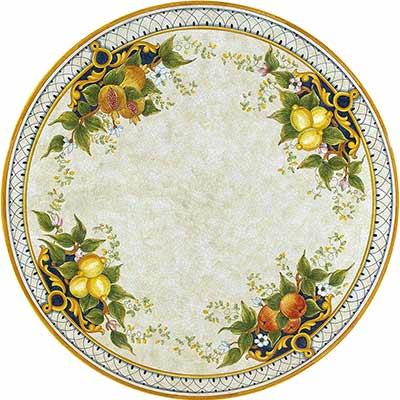Piano del tavolo in pietra lavica italiano in design Melograno