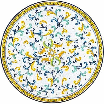 Piano del tavolo in pietra lavica italiano in design Renaissance