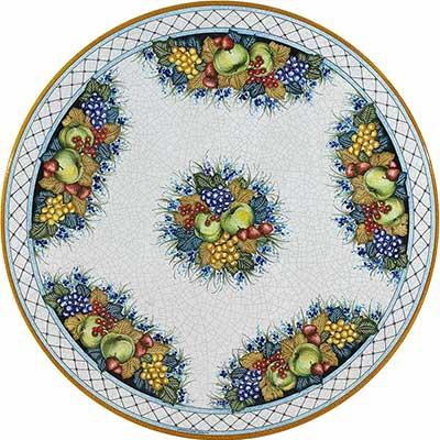 Piano del tavolo in pietra lavica italiano in design Ruffini