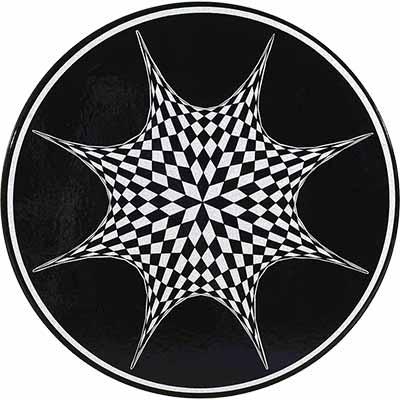 Piano del tavolo in pietra lavica italiano in design Stella Polare