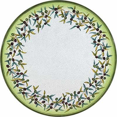 Piano del tavolo in pietra lavica italiano in design Ulivo