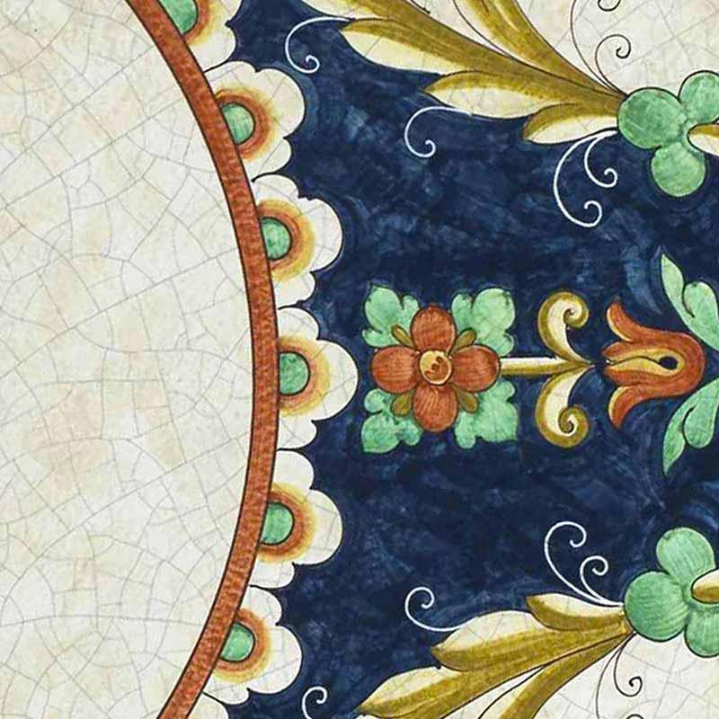 Modello dal piano del tavolo Trevi italiano in pietra lavica
