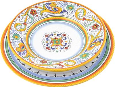 Set da tavola in ceramica design Raffaellesco