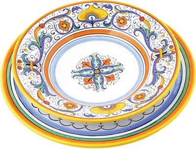 Set da tavola in ceramica design Ricco Deruta