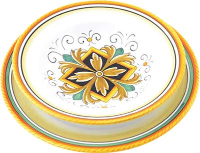 Ceramic tableware set in design Imperia