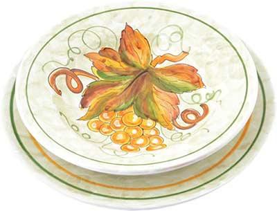 Керамический сервиз посуды в дизайне Montefalco