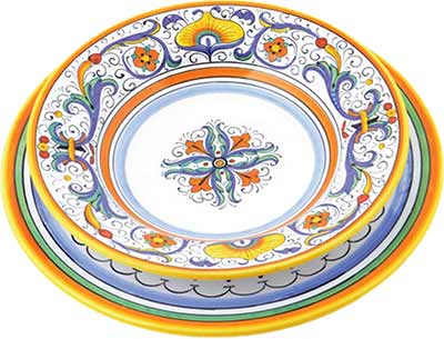 Керамический сервиз посуды в дизайне Ricco Deruta