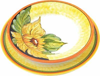 Керамический сервиз посуды в дизайне Spello