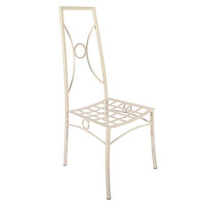 Sedia in ferro zincato bianco di design italiano Valeria