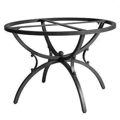 Черная железная рама стола Aurora
