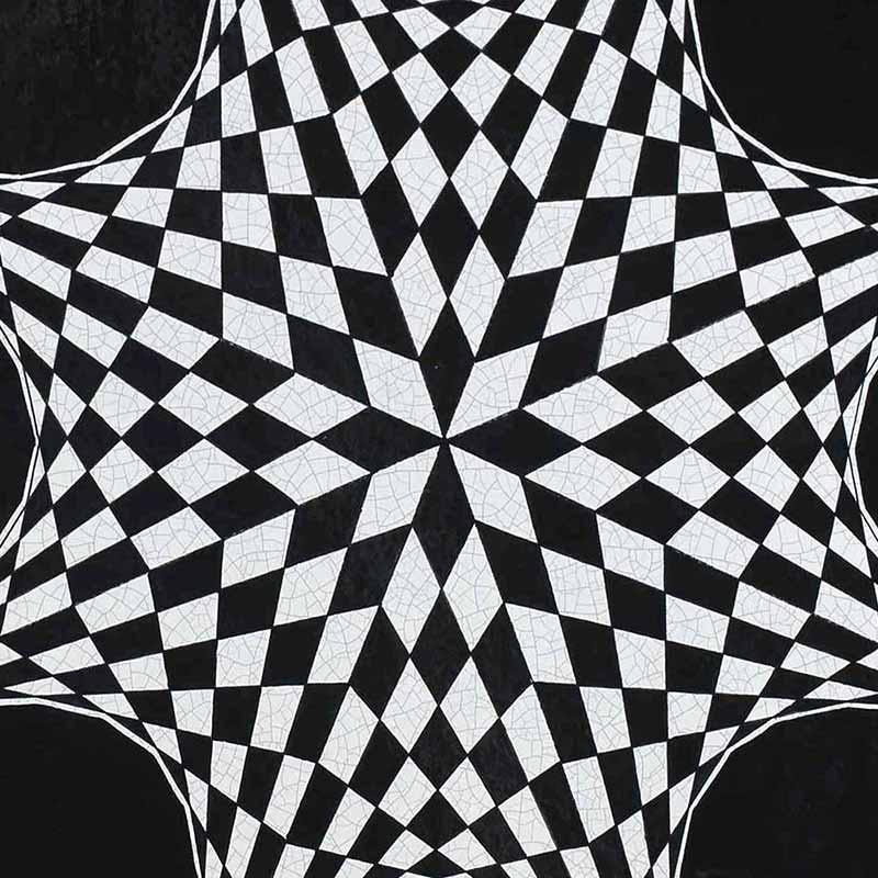 Pattern of Italian table top Stella Polare made of lava stone