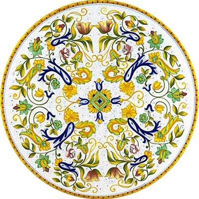 Ручная роспись столешницы в дизайне Toscana