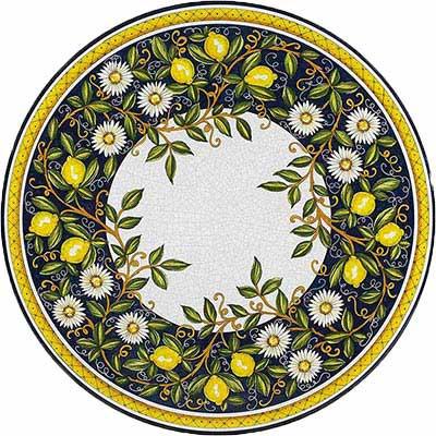 Piano del tavolo dipinto a mano in design Giardino