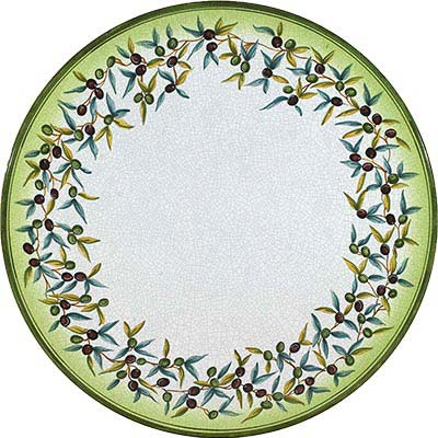 Piano del tavolo dipinto a mano in design Ulivo