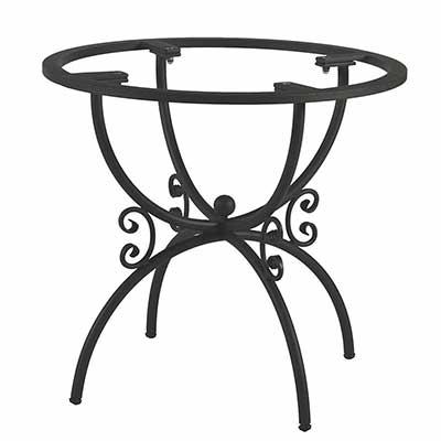 Schwarzes Tischgestell Arianna aus Eisen