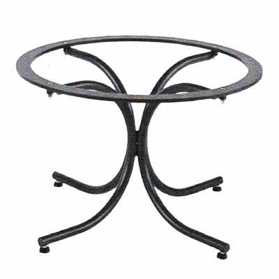 Schwarzes Tischgestell Diana aus Eisen
