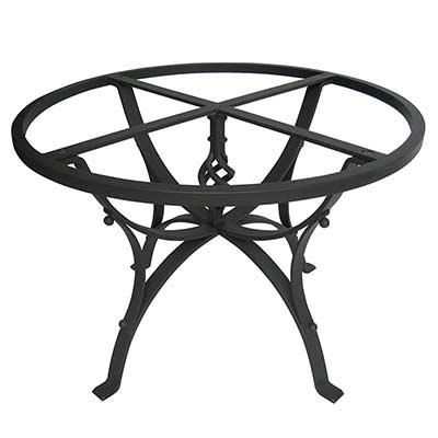 Schwarzes Tischgestell Giunone aus Eisen