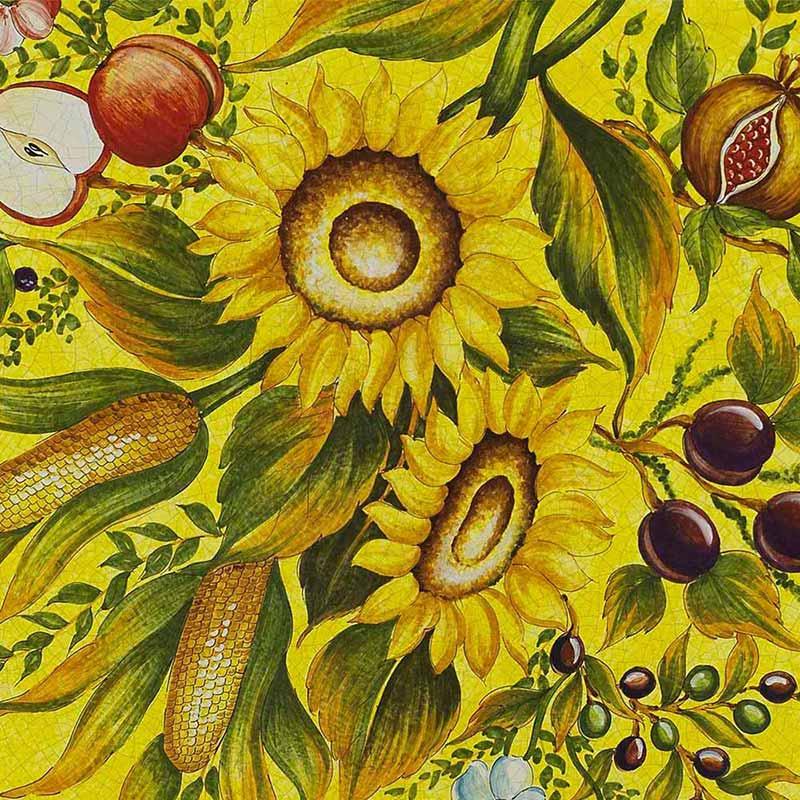 Muster von italienischer Tischplatte Armonia aus Lavastein