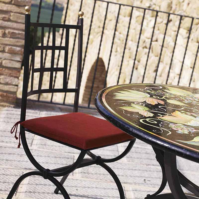 Tischplatte in Design Barolo auf Terrasse