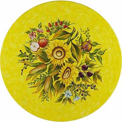 Tischplatte aus italienischem Lavastein im Design Armonia
