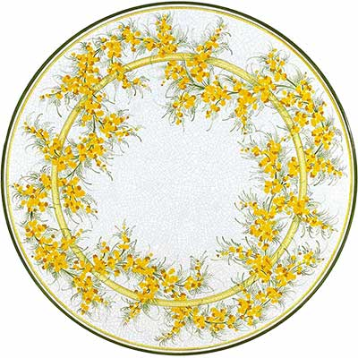 Tischplatte aus italienischem Lavastein im Design Delicato