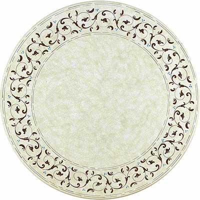 Tischplatte aus italienischem Lavastein im Design Fantasia
