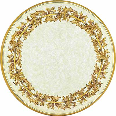 Tischplatte aus italienischem Lavastein im Design Liberty