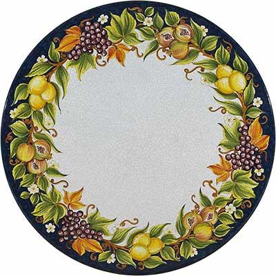 Tischplatte aus italienischem Lavastein im Design Lungomare