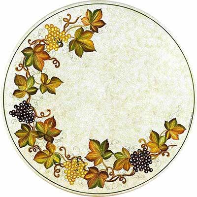 Tischplatte aus italienischem Lavastein im Design Montepulciano