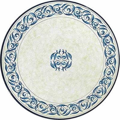 Tischplatte aus italienischem Lavastein im Design Oceano