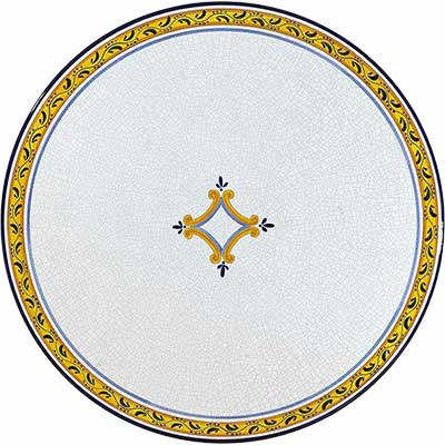 Tischplatte aus italienischem Lavastein im Design Rombo