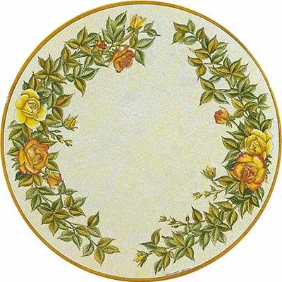 Tischplatte aus italienischem Lavastein im Design Rosa