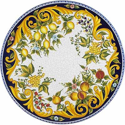 Tischplatte aus italienischem Lavastein im Design Taormina