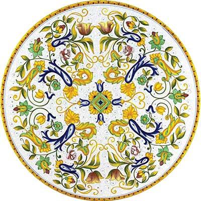 Tischplatte aus italienischem Lavastein im Design Toscana