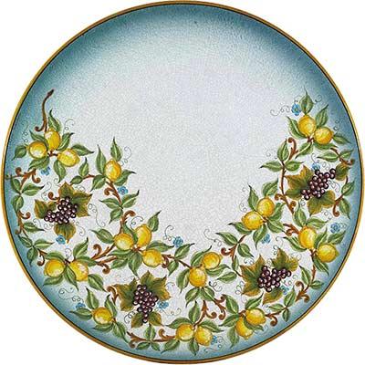 Tischplatte aus italienischem Lavastein im Design Uvetta