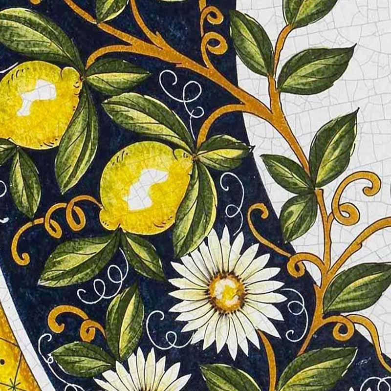 Muster von italienischer Tischplatte Giardino aus Lavastein