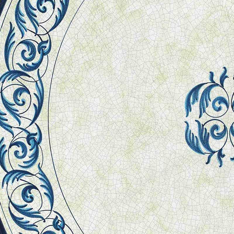 Muster von italienischer Tischplatte Oceano aus Lavastein