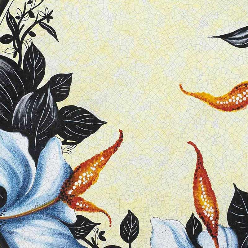 Muster von italienischer Tischplatte Orchidea aus Lavastein