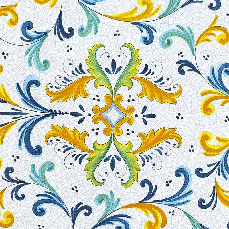 Muster von italienischer Tischplatte Renaissance aus Lavastein