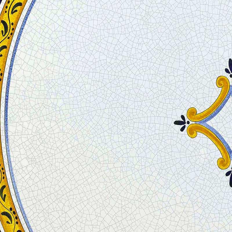 Muster von italienischer Tischplatte Rombo aus Lavastein
