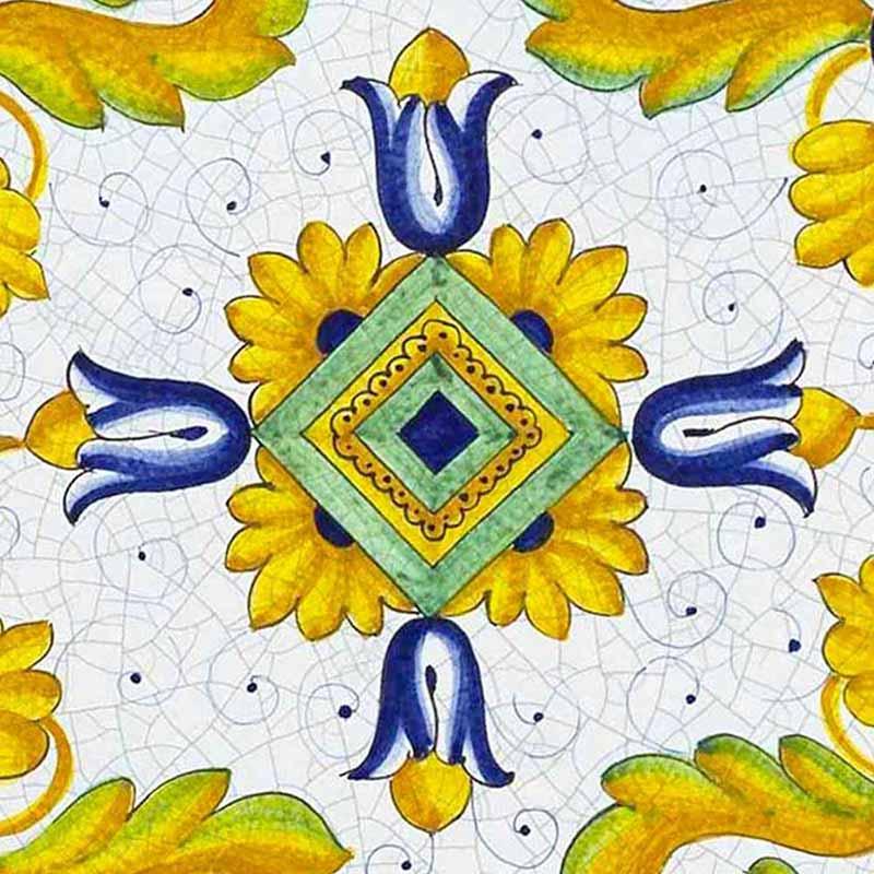 Muster von italienischer Tischplatte Toscana aus Lavastein