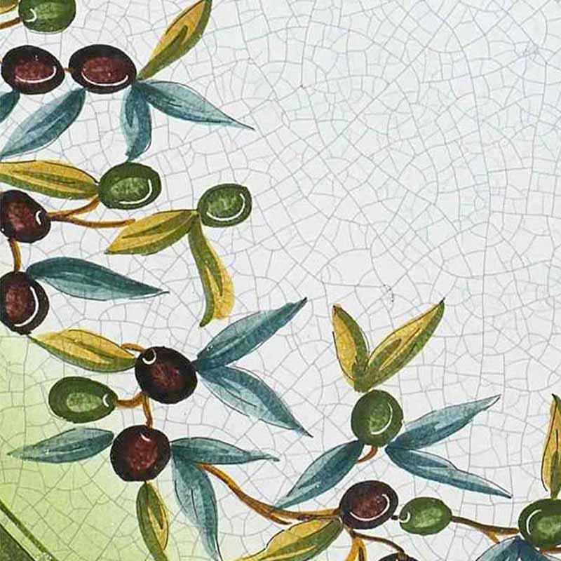 Muster von italienischer Tischplatte Ulivo aus Lavastein