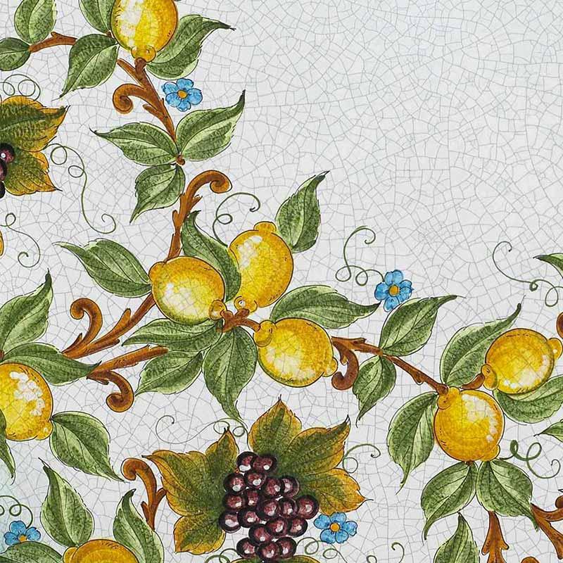Muster von italienischer Tischplatte Uvetta aus Lavastein