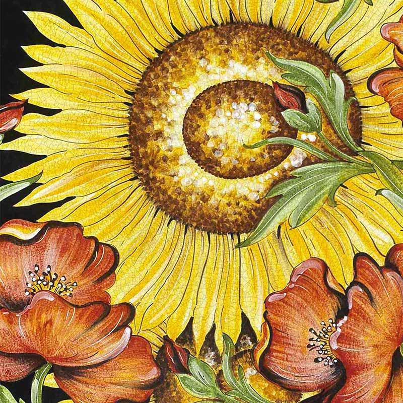 Muster von italienischer Tischplatte Van Gogh aus Lavastein